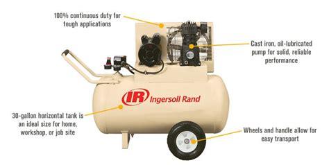 ingersoll rand electric portable air compressor 2 hp 115 volt 30 gallon ebay