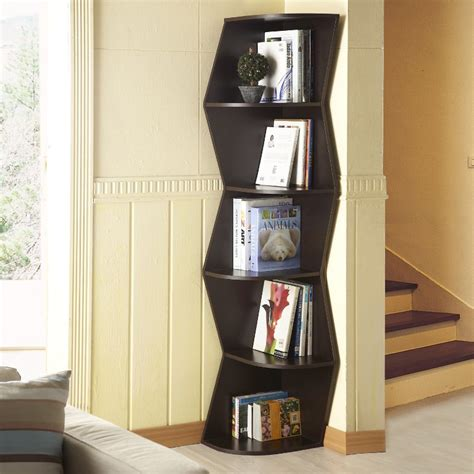 industrial style of zig zag corner shelf tedx decors