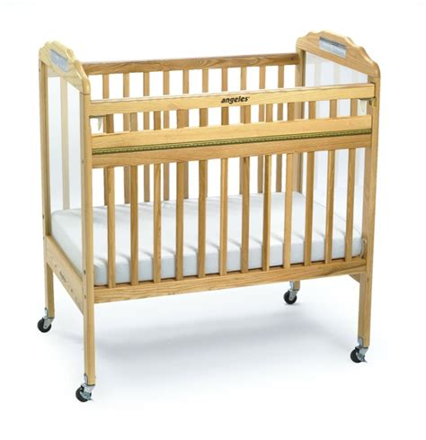 angeles compact safe t side child care crib clearview