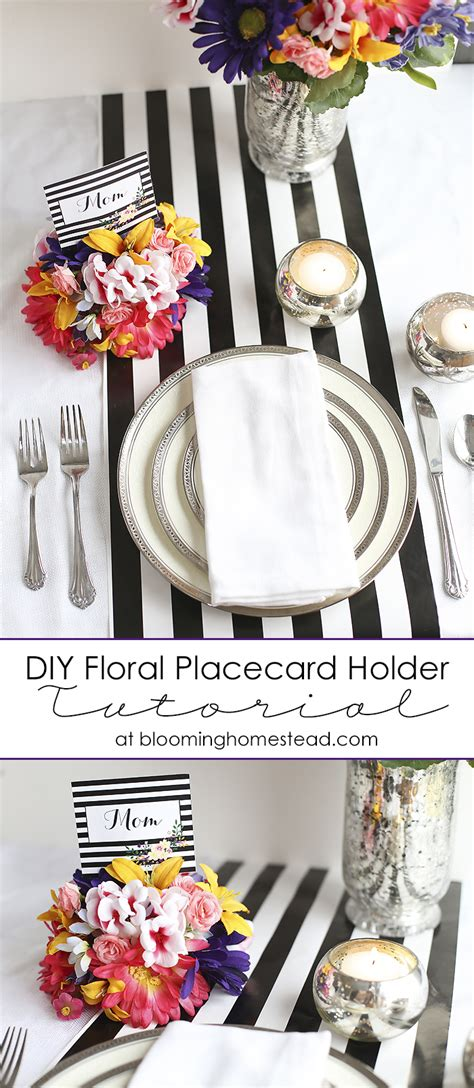easy wire place card holder diy a beautiful mess diy floral placecard holders blooming homestead