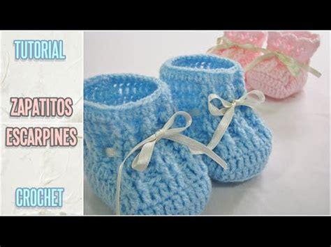 como hacer zapatitos tejidos para bebes youtube como tejer zapatitos escarpines de beb 233 a crochet paso a