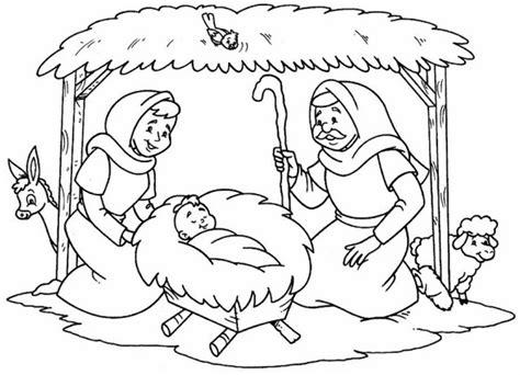 Imagenes Del Nacimiento De Jesus Para Pintar | dibujos de pesebres navide 241 os para colorear belenes