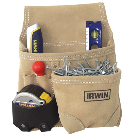 irwin 6 pocket suede leather nail tool belt i n 5821582