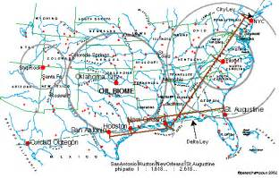 ley lines sources of info and detailed map of where