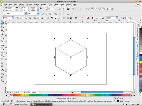tutorial membuat foto menjadi kartun dengan coreldraw x4 membuat gambar jadi 3d di corel efek kubus 3d pada corel