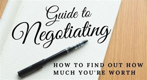 negotiating salary how to find out how much you re worth