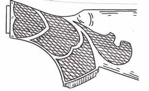 Rifle Stock Template by Wood Gun Stock Carving Patterns Standard Buttstock Style