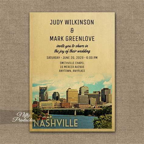 wedding stationery tn nashville tennessee wedding invitation printed nifty printables