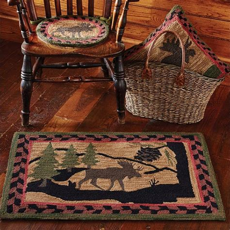 wilderness rugs wilderness moose hooked rug