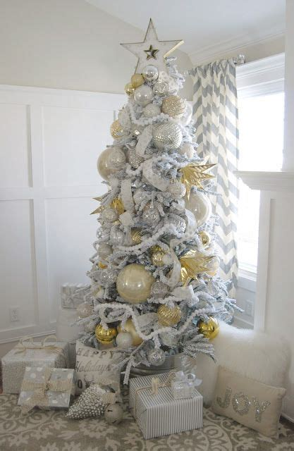 awesome silver  white christmas tree decorating ideas inspirations