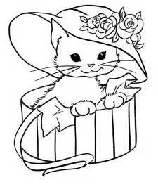 cat in the hat coloring page free printable cat coloring pages for