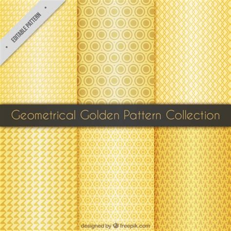 svg pattern collection golden geometrical pattern collection vector free download