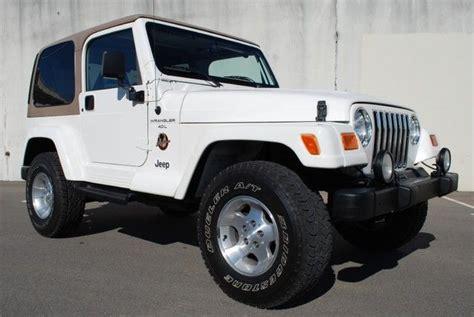 white jeep sahara tan interior white jeep wrangler w tan hard top vroom pinterest