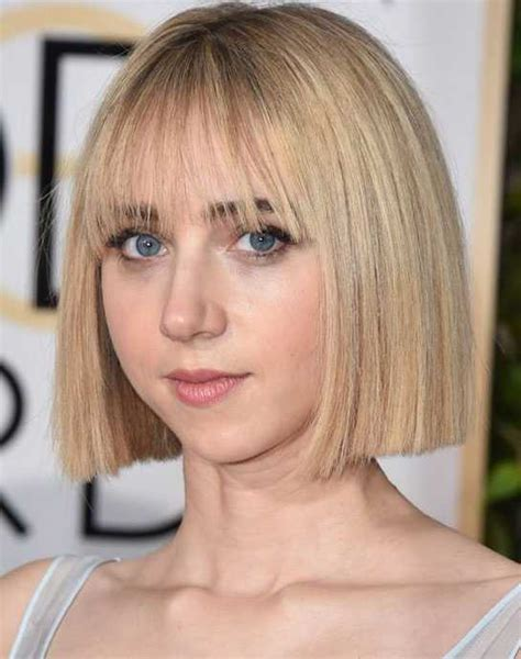 great layered blunt cut with bangs hottest short hairstyles for straight hair hairstylesco