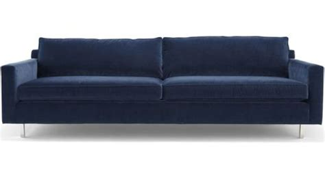 hunter sofa mitchell gold hunter sofa in deep blue velvet 2175 mitchell gold ev