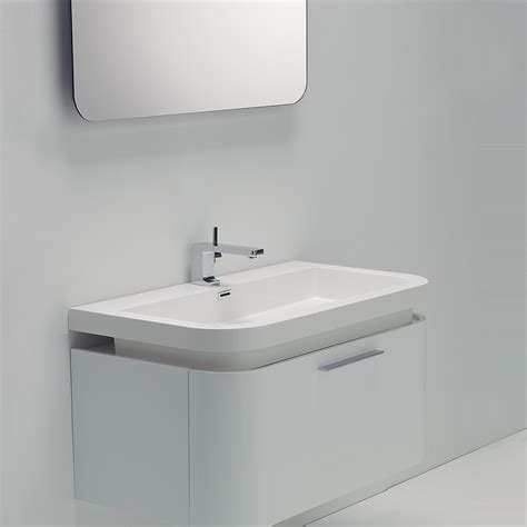 White Bathroom Vanity Unit Beautiful Vanity Gloss White Wall Mounted
