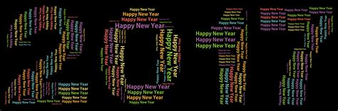 clipart happy new year 2017 word cloud