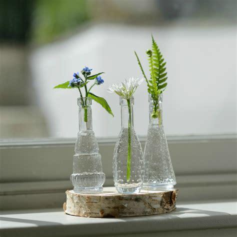 Miniature Bud Vases by Flower Bottles Mini Vintage Glass Bud Vase Set Flower