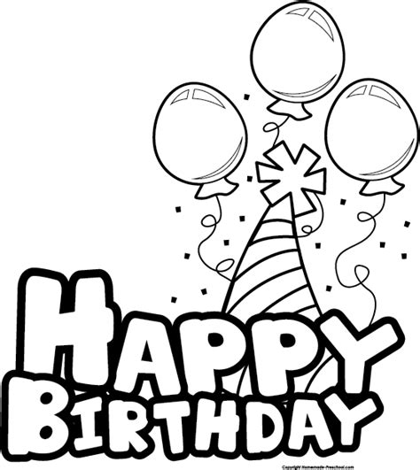 free happy birthday clipart
