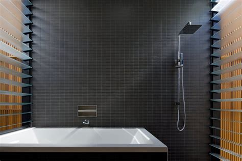 In Bathrooms by How To Master The Black Bathroom Trend Pivotech