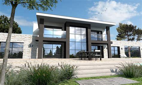 Plan De Maison Design by Maison Moderne Sur Mesure 44 56 85 Depreux Construction