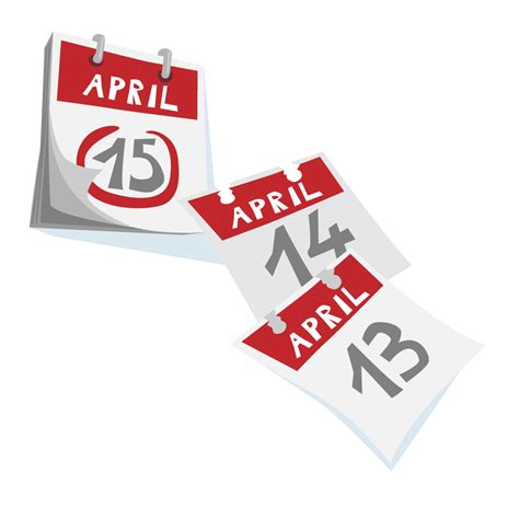 March 15 Mba Deadline by April 15 Tax Deadline Calendar Showing Taxes Are Due