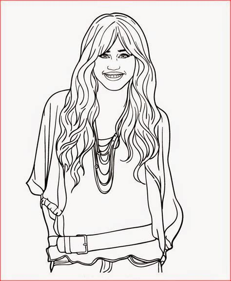 Miley Cyrus Coloring Pages coloring pages miley cyrus coloring pages free and printable