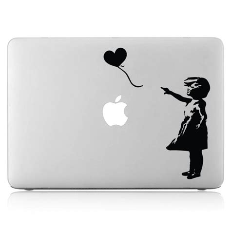 banksy balloon laptop macbook vinyl decal sticker