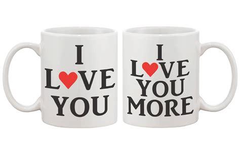 mug design valentine amazon com i love you matching coffee mugs perfect