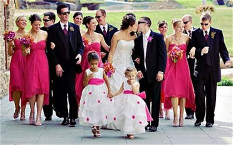 Set of 14 Hot Pink & Black Wedding Bows Pew Bows Church