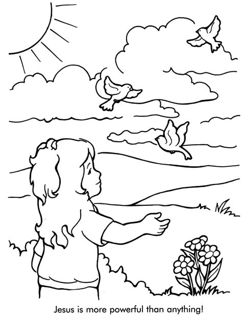 jesus is more powerful than anything coloring page