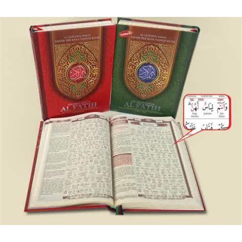 Al Quran Tafsir Per Kata Tajwid Robbani A4 al qur an al fatih ukuran a4 al qur an terjemah tafsir per kata tajwid kode