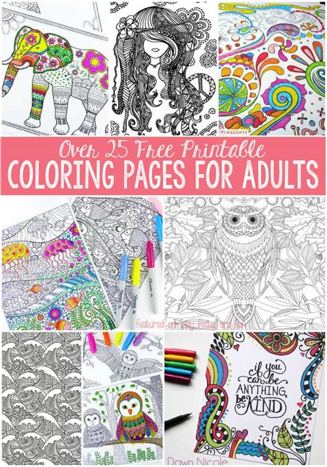 coloring books for adults huffington post free coloring pages for adults easy peasy and