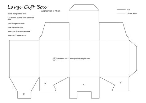 printable templates for gift boxes just jane designs super little gift box template