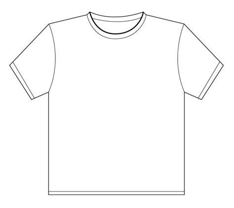 Drawing T Shirt Outline by T Shirt Drawing Template Clipart Best