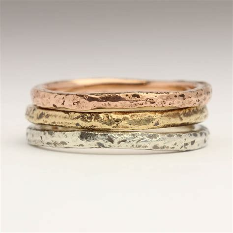 Handmade Stacking Rings - justin duance handmade sand cast stacking rings