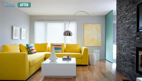 Yellow Gray And Blue Living Room by Amazing Yellow Living Rooms