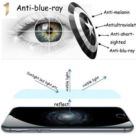 Tempered Glass For Iphone 6 Anti Blue Light Anti Uv Eyeo2 9h protection anti blue light tempered glass screen