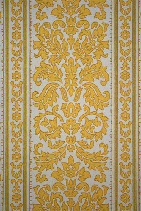 baroque designs baroque stripes wallpaper in yellow color