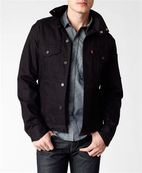 Blazer Levis commuter hooded trucker jacket by levis black nanotechnology fabric this pair of levi s 174