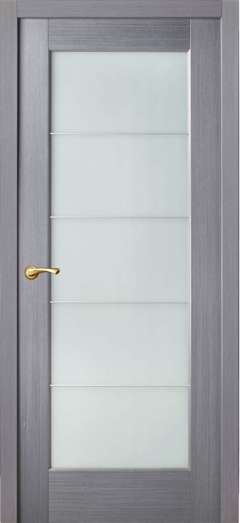 Door Grey Color In The Style Of Techno With Five Frosted How To Glass Door