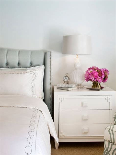 Duck Egg Blue Headboard by Sue Firestone Bedrooms Benjamin Winter White