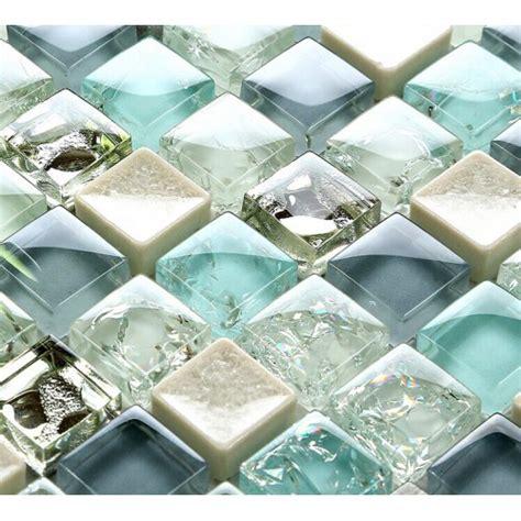 blue mosaic tile backsplash blue glass tile mosaic sheets beige crackle