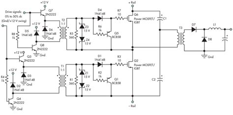 transistor driver transformer galvanically isolated mosfet igbt gate drive