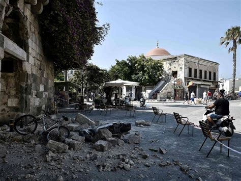 Earthquake Kos | images show devastating aftermath of powerful earthquake