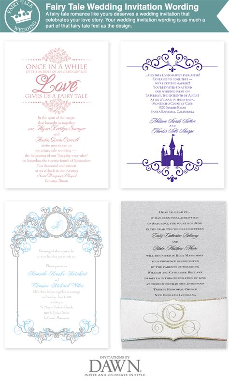 Fairy Tale Wedding Invitation Wording From Www Invitationsbydawn Com Disney Wedding Fairytale Wedding Invitation Templates