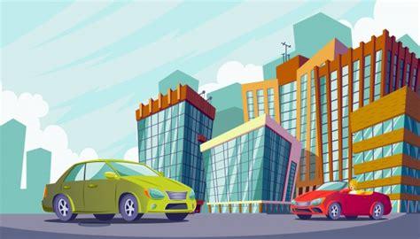 imagenes de zonas urbanas para niños vector ilustraci 243 n de dibujos animados de un paisaje