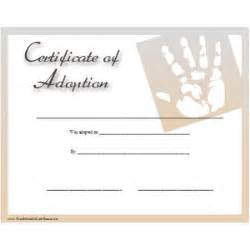 blank adoption certificate template certificate of adoption printable certificate polyvore