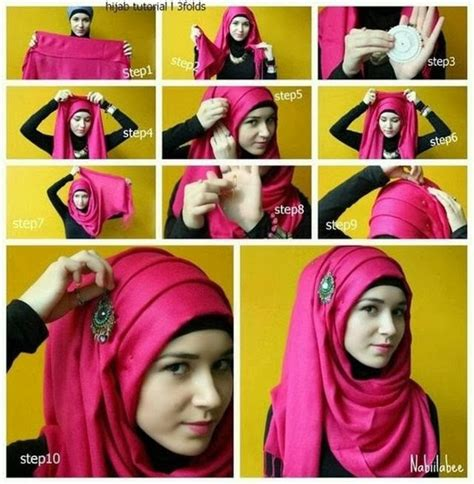 tutorial jilbab pesta simple pakistani hair style daily motion