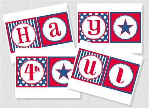 printable fourth of july banner free fourth of july printable banner sweet peach paperie